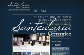 Creation of personal website, Santeularia.com