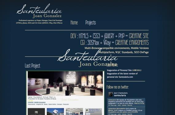 Creación de sitio web personal, Santeularia.com