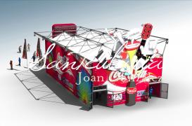 3D Stand Environments and Models Creation for events of known drink company at FIB and FestiMAD Festivals