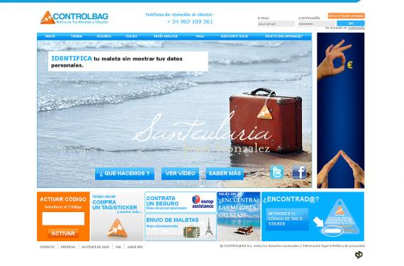 Creación completa de pagina web de servicios para el viajero.