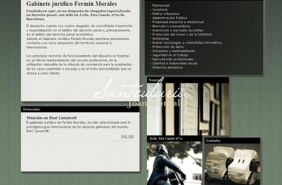 Created website for popular law firm in Barcelona