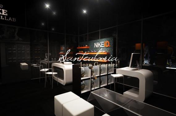3D modeling and design of commercial spaces for major clothing brand.