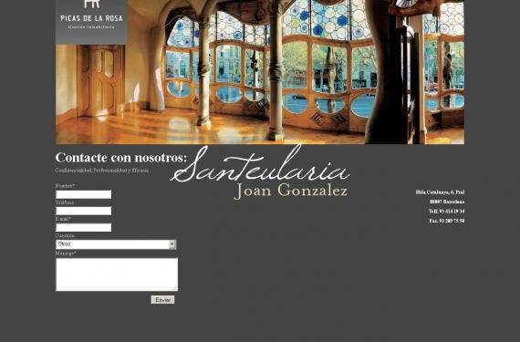 Creació de lloc web per a nova empresa immobiliaria de luxe situada a Barcelona